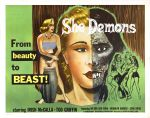 she_demons_poster_02 50s 1950s Poster Movie Girls Women Bad Illustration Pulp Exploitation